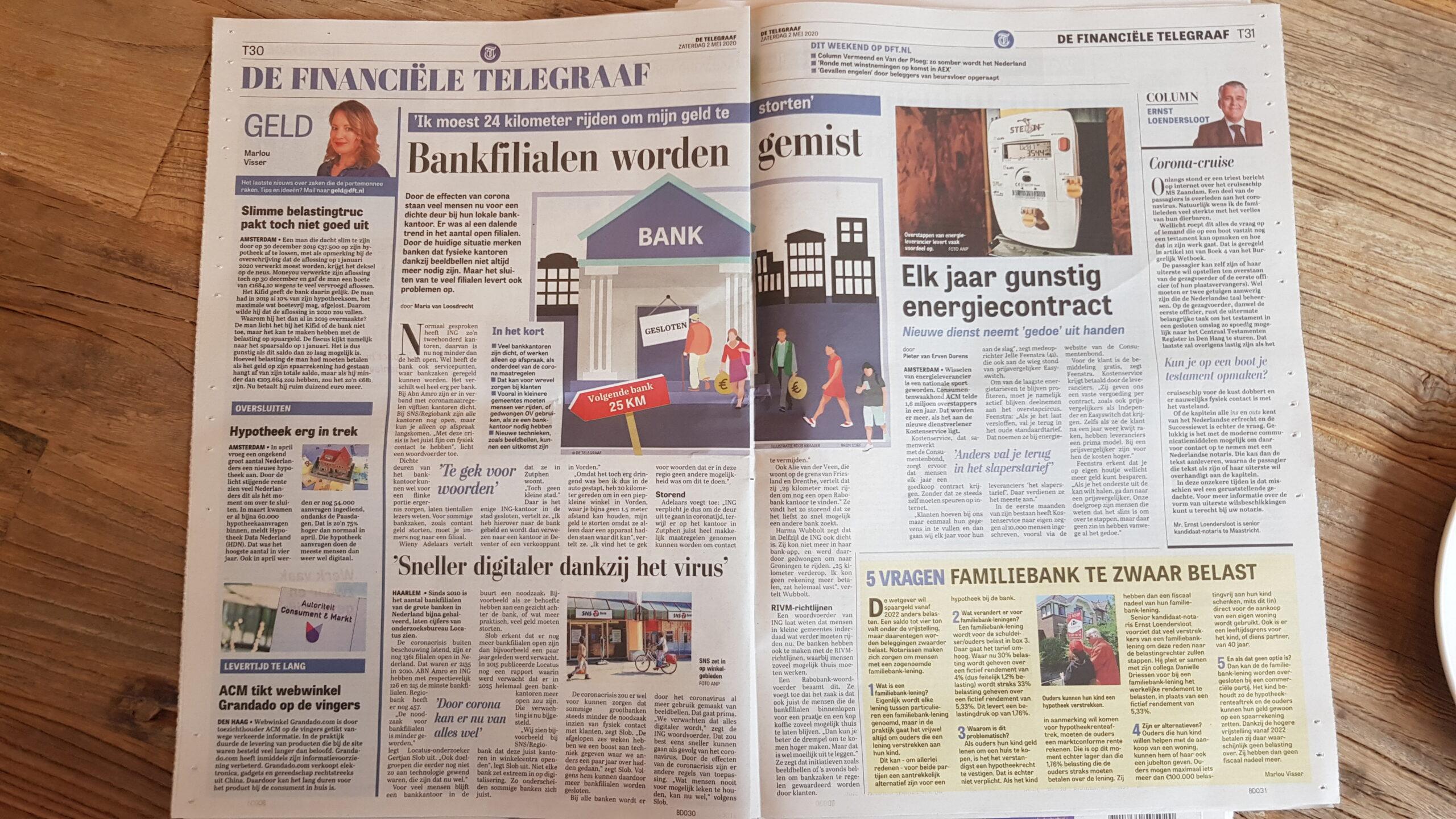 Telegraaf: Nieuw bedrijf regelt jaarlijks goedkoop energiecontract