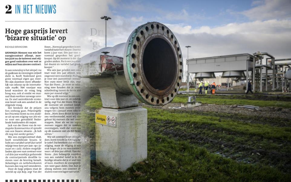 Dagblad van het Noorden: Het advies van Kostenservice